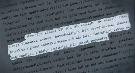 «Voldtektsforsikring» De greske rettsdokumentene avslører det som i beste fall er en enorm misforståelse. (Foto: TV 4)