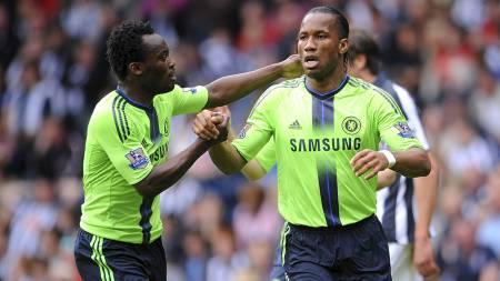 Michael Essien, Didier Drogba (Foto: Joe Giddens/Pa Photos)