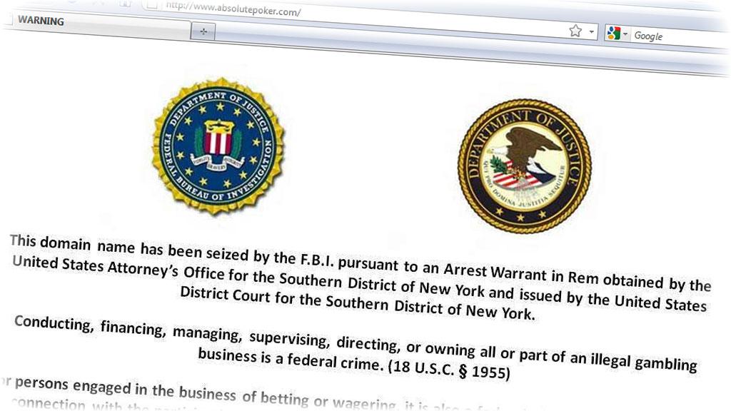 STENGT AV FBI: Amerikanske myndigheter jakter nå på milliarder av kroner de mener flere pokersider på nettet har svindlet til seg. (Foto: Skjermdump fra Absolutepoker.com)