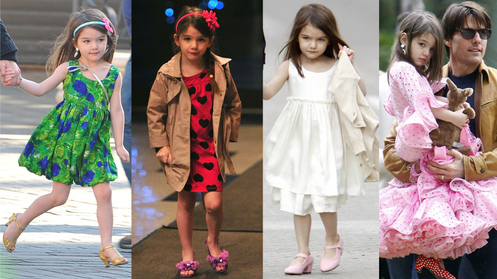 VOKSEN?: Datteren til Tom Cruise og Katie Holmes er verdens mest jålete femåring. (Foto: James Devaney, ©jd/jac)