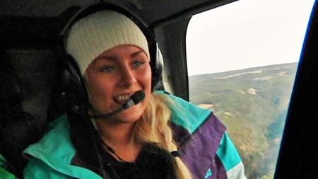 Martine synes helikopter er en flott måte å komme seg opp skibakken på. (Foto: TV 2)