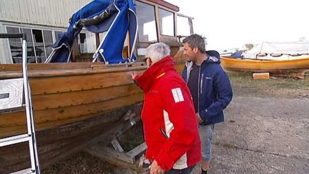 Trebåten Michelle har sett bedre dager. (Foto: God morgen Norge)