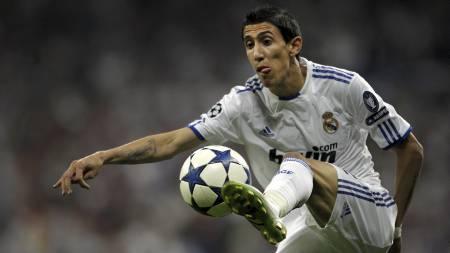 STARTET FILMEBALLET: Real Madrids Angel di Maria. (Foto: Arturo Rodriguez/Ap)