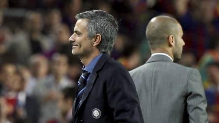 Jose Mourinho og Pep Guardiola (Foto: ALESSANDRO BIANCHI/Reuters)