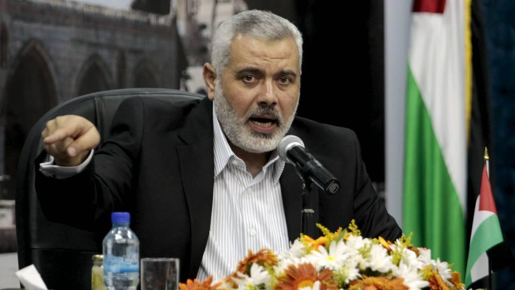 HELLIG KRIGER: Hamas-leder Ismail Haniyeh fordømmer drapet på al-Qaida-lederen. (Foto: ISMAIL ZAYDAH/Reuters)
