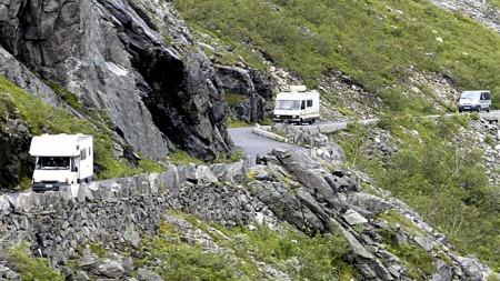 Bobil-folket holdt seg i ro i 2010. Gjennomsnittlig kjørelengde for en norskregistrert bobil gikk ned fra drøyt 11.000 til 8.000 kilometer. (Foto: Terje Bendiksby, SCANPIX)