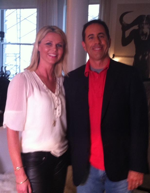 «God Kveld Norges» reporter Eva Kynningsrud Dobbing møtte Jerry Seinfeld.