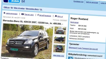 GL (Foto: Faksimile fra finn.no.)