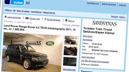 Range Rover II (Foto: Faksimile fra finn.no.)