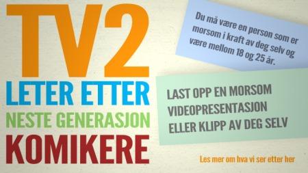 TV2 leter etter neste generasjon komikere