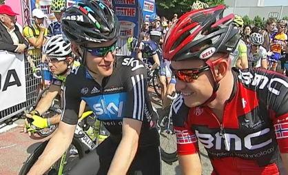 Lars Petter Nordhaug og Alexander Kristoff i Giro d'Italia.   (Foto: TV 2)