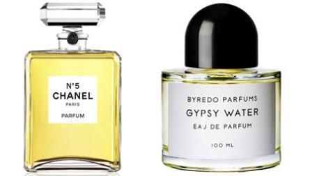 DE BESTE SKJØNNHETSPRODUKTENE - PARFYME: Klassikeren Chanel No.5 har toppnoter av blant annet ylang-ylang (35mm, kr 535/Esthetique), kultparfymen Gypsy Water har en unik og nesten hypnotisk duft (ca kr 1250/Parfymerier.no).