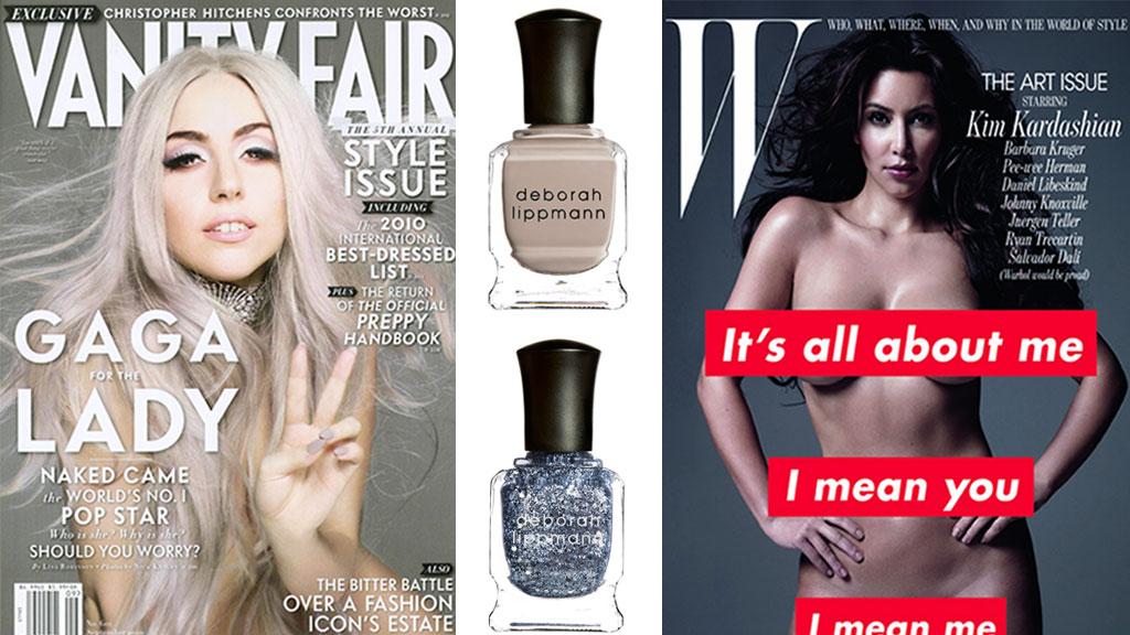 KASTER KLÆRNE FOR DEBORAH LIPPMANN: Neglelakkene fra Deborah  Lippmann er elsket av stjernene og omfavnet av skjønnhetsbransjen. Lady  Gaga med neglelakk i fargen «Waking Up In Vegas» på coveret av Vanity  Fair, og Kim Kardashian med neglelakk i fargen «Today Was A Fairytale»  i W.
