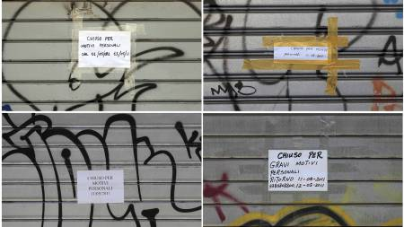 STENGT: Flere butikker i Romas Chinatown holdt onsdag stengt på grunn av «personlige årsaker». (Foto: ALESSANDRO BIANCHI/Reuters)