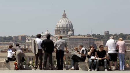 roma turister italia (Foto: ALESSANDRO BIANCHI/Reuters)
