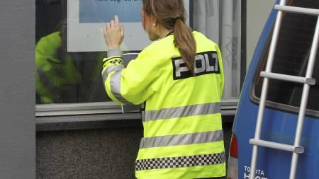 Banken ble ranet av en person som trolig ankom i taxi. (Foto: Holm, Morten/Scanpix)