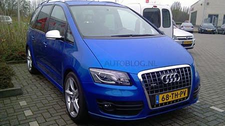 Med store felger, fort-fort-blå lakk og blanke speilhus har konverteringen gitt en bil som godt kunne vært en offisiell Audi-modell - eller i det minste en konseptbil. Foto: Autoblog.nl