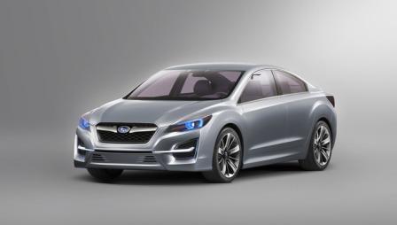Dette er konseptbilen fra i fjor høst. Den ga bud om nye designtider. Trodde vi. (Foto: Subaru)