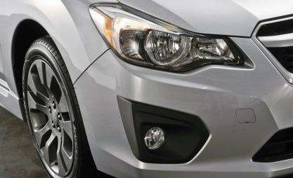 Om man isolerer vekk deler av bilen blir det lettere å forholde seg  til linjene. (Foto: Subaru)