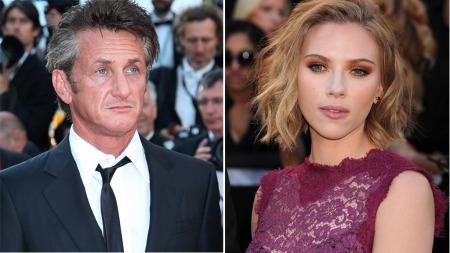 BRUDD: Kjærligheten ble kortvarig for superparet Sean Penn og Scarlett Johansson. (Foto: Stella)