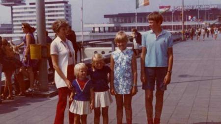 Her er familien Staude i Holland sommeren 1970.  (Foto: Privat)
