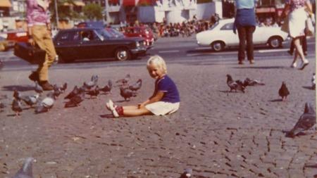 Vår Staude i Amsterdam som fireåring våren 1970.  (Foto: Privat)