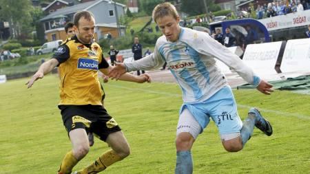 Alexander Ruud Tveter (t.h.) i aksjon for gamleklubben Follo.   (Foto: Holm, Morten/Scanpix)