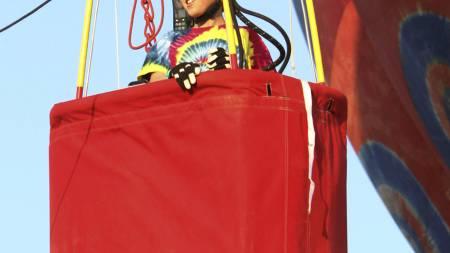 Bobby Bradley er fra Albuquerque, New Mexico. Lørdag fløy han alene for første gang. (Foto: GREG SORBER/Ap)