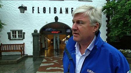 FLØIBANEN TILGRISET: Direktør ved Fløibanen Trond Amland ble møtt av et trist syn i pinsehelgen. (Foto: TV 2)