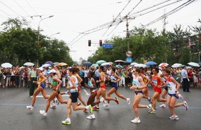 Løpingmarathon (Foto: Michael Steele, ©mw)