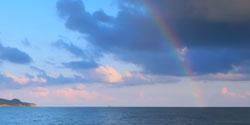 Regnbue om morgenen er et tegn på at uvær er på vei. (Foto:   (Illustrasjonsbilde) Colourbox)