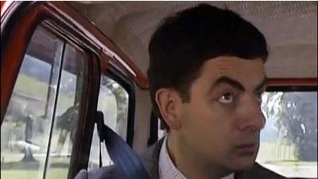 Mr. Bean i klassisk positur