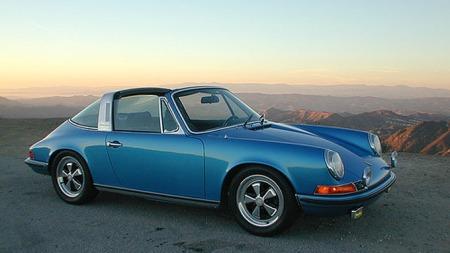 Klassisk, lekker Porsche 911 Targa.