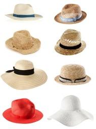 Stråhatt, hatt, collage