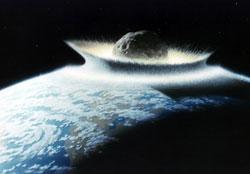 En stor asteroide vil ødelegge mye av livet på jorden om den treffer oss. (Foto: NASA)