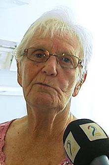FORNØYD: 83 år gamle Helga Kymre er fornøyd med behandlingen hun har fått på Nordlanssykehuset. (Foto: TV 2)