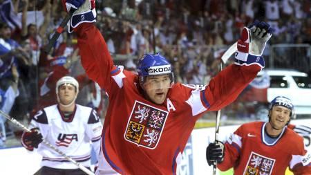 PÅ VEI TILBAKE: Jaromir Jagr kommer trolig til å avslutte karrieren i NHL. (Foto: SAMUEL KUBANI/Afp)