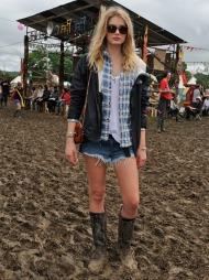 Lily Donaldson, festival, Glastonburry (Foto: Mulberry)