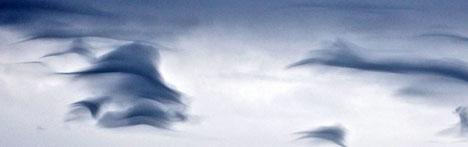Linseskyene dannes når det er bølger i atmosfæren. (Foto: Pål   Bentdal)