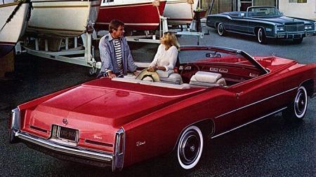1976 Cadillac Fleetwood Eldorado convertible. Foto fra brosjyren.