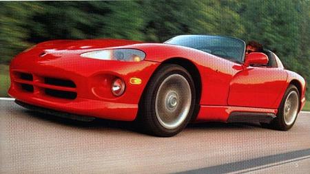 1993 Dodge Viper RT/10. Foto fra brosjyren.