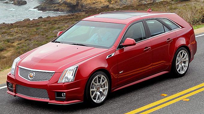 Cadillac CTS-V er en av de absolutt råeste stasjonsvognene i verden. Men kutt ut den kompressormatede Corvette-motoren i V-modellen, og du har en bil som konkurrerer med BMW og Audi - også i pris. Foto: Netcarshow.com
