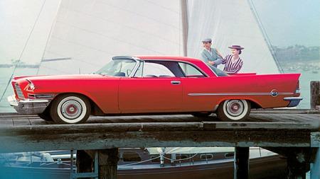 1957 Chrysler 300C. Foto fra brosjyren.