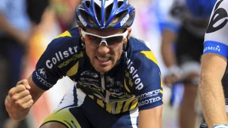 Romain Feillu tok andreplassen på den tredje etappen i Tour de France 2011. (Foto: Laurent Rebours/Ap)
