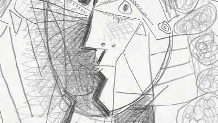 TATT: Pablo Picasso teikna Tete de Femme i 1965. Tysdag vart det stole frå kunstgalleriet det hang på. (Foto: AP Photo/Weinstein Gallery/Ap)