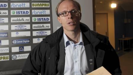 SOLGTE TOPPSCOREREN: Tarje Nordstrand Jacobsen, leder i Moldes   sportslige utvalg, avviser imidlertid at Molde nå har solgt seg ut av   gullkampen. (Foto: Ekornesvåg, Svein Ove/SCANPIX)