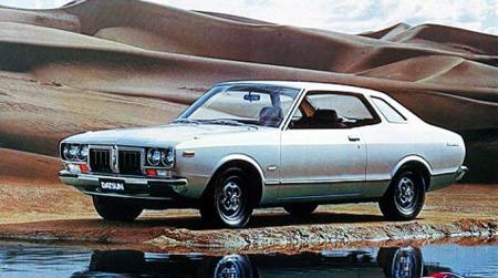 Dette er 1980-modellen av Datsun 180 B, en populær bil i flere varianter.