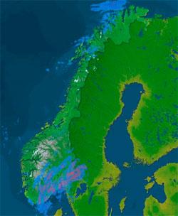 Sjekk hvor det regner akkurat nå på storm.no/radar/. Dette kartet   er fra klokken 10.15 fredag. (Foto: storm.no)