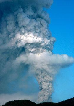 Dette utbruddet skjedde i Chile 20. juni. (Foto: Ap)