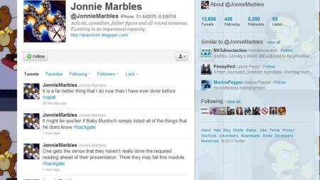 TEGN I TIDEN: Det var tydelig at Marbles hadde bestemt seg på forhånd for at han skulle aksjonere